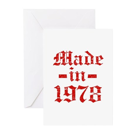 Made In 1978 Greeting Cards (Pk of 10)