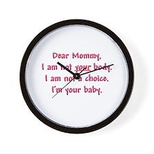 Dear Mommy Wall Clock