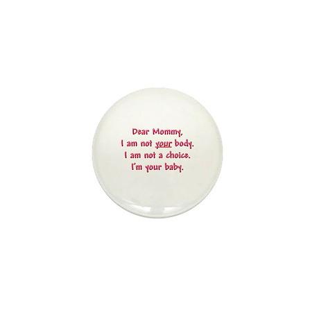 Dear Mommy Mini Button (10 pack)