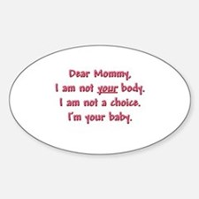 Dear Mommy Decal