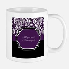Customizable Purple Damask Mug