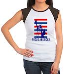 PROUD AMERICAN Women's Cap Sleeve T-Shirt