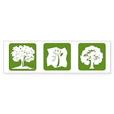 Three Tree Bumper Bumper Sticker