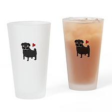 PugBlack.bmp Drinking Glass