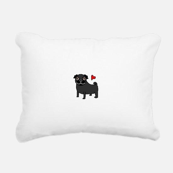 PugBlack.bmp Rectangular Canvas Pillow