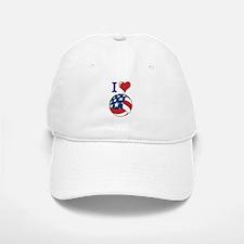 I Love Volley Ball Baseball Baseball Cap
