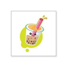 "Boba Tea Square Sticker 3"" x 3"""