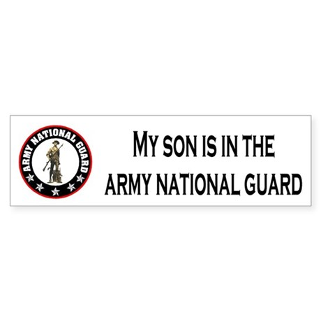 Bumper Sticker: Son In National Guard