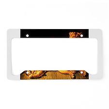 The Lion Family License Plate Holder