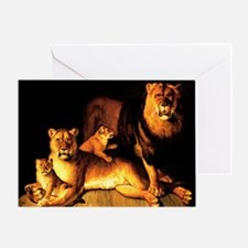 The Lion Family Greeting Card