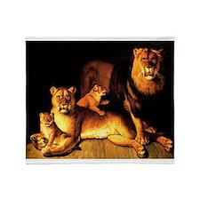 The Lion Family Throw Blanket