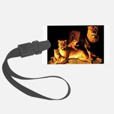 The Lion Family Luggage Tag
