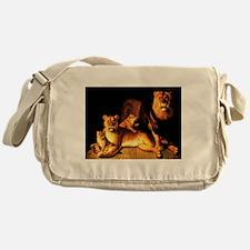 The Lion Family Messenger Bag