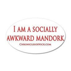 Socially Awkward Mandork 35x21 Oval Wall Decal