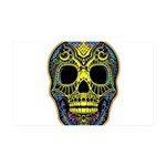 Colorful skull 35x21 Wall Decal