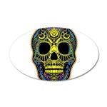 Colorful skull 35x21 Oval Wall Decal