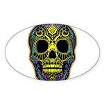 Colorful skull Sticker (Oval)