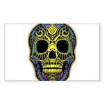 Colorful skull Sticker (Rectangle)