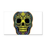 Colorful skull Rectangle Car Magnet