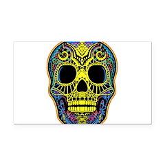 Colorful skull Rectangle Car Magnet