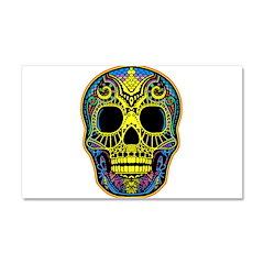 Colorful skull Car Magnet 20 x 12