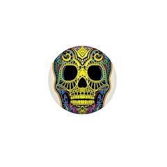 Colorful skull Mini Button (100 pack)