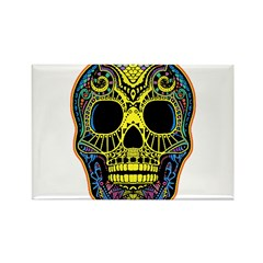 Colorful skull Rectangle Magnet (100 pack)