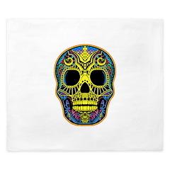 Colorful skull King Duvet