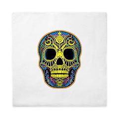 Colorful skull Queen Duvet