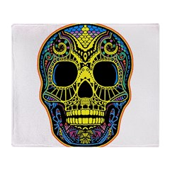 Colorful skull Throw Blanket