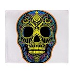 Colorful skull Throw Blanket