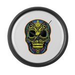 Colorful skull Large Wall Clock