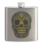 Colorful skull Flask