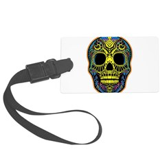 Colorful skull Luggage Tag