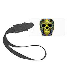 Colorful skull Luggage Tag