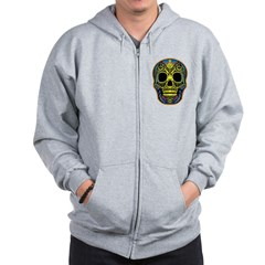 Colorful skull Zip Hoodie