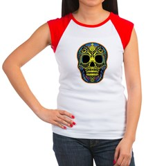 Colorful skull Women's Cap Sleeve T-Shirt