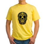 Colorful skull Yellow T-Shirt