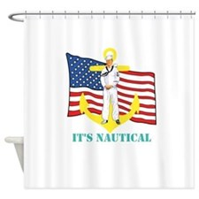 Its Nautical Shower Curtain