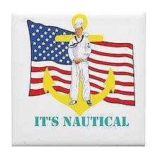 Its Nautical Tile Coaster