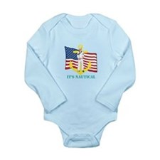 Its Nautical Long Sleeve Infant Bodysuit