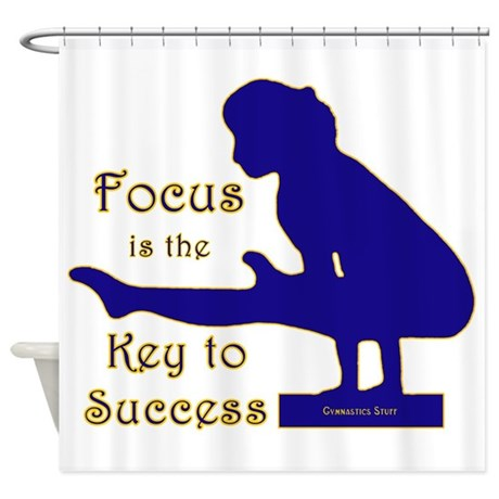 Gymnastics Shower Curtain - Focus