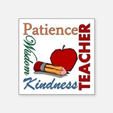 "Teacher Square Sticker 3"" x 3"""