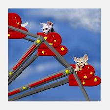 Devon Country Fair Ferris Wheel Tile Coaster
