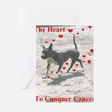 sockmhearts Conquer Cancer Greeting Cards