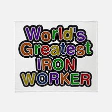 World's Greatest IRON WORKER Throw Blanket