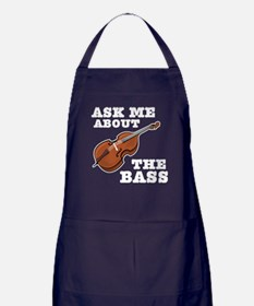Ask Me About The Bass Apron (dark)