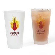 Awesome At Double Bass Drinking Glass