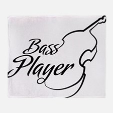 Bass Player Throw Blanket