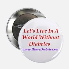 Let's Live in a World Without Diabetes Button